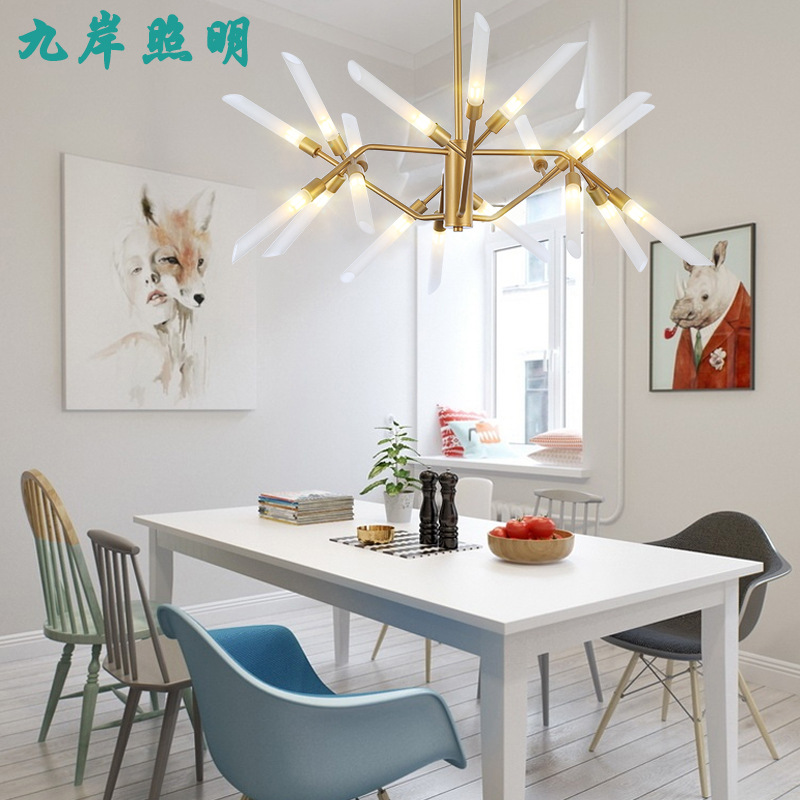 Postmodern Chandeliers Ceiling Nordic Luminaires Deco Lighting Glass Fixtures Living Room Hanging Lights Bedroom Pendant Lamps Pure And Mild Flavor Chandeliers