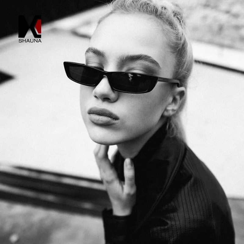 SHAUNA Neue Ankunft Metall Scharnier Frauen Kleine Quadrat Sonnenbrille Art Und Männer Klare Rote Shades UV400