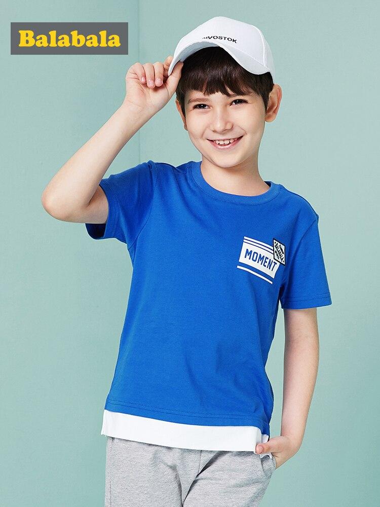 Balabala T-Shirt Top Cloth Short-Sleeve 3d-Print Boys Kids Cotton Children Summer O-Neck