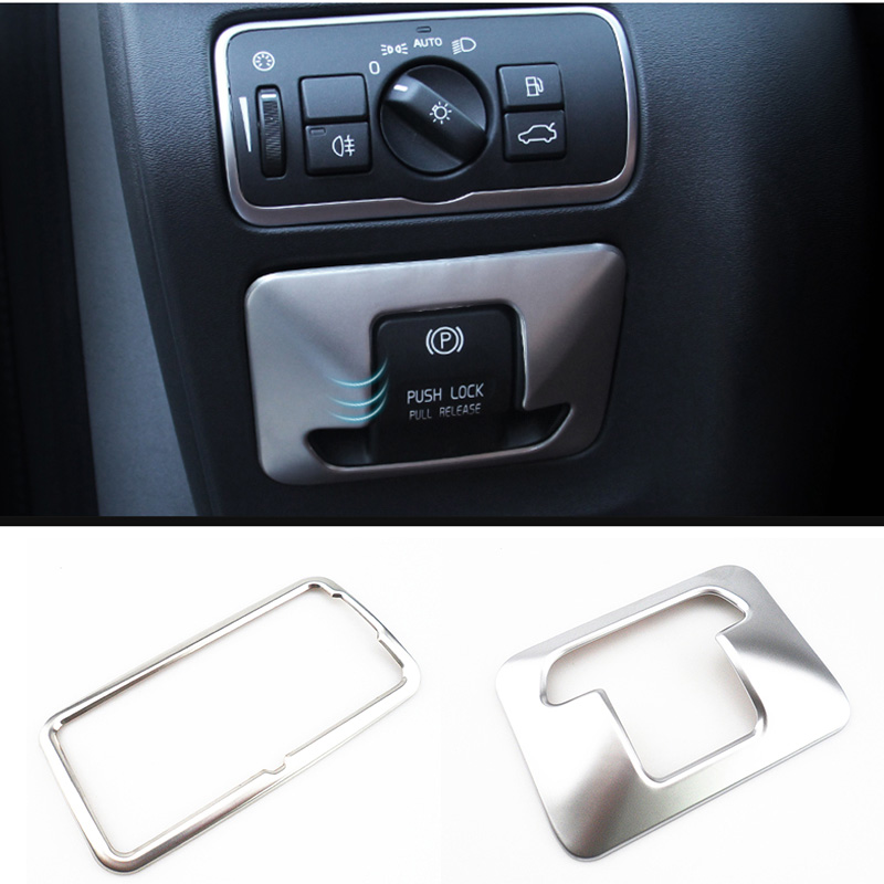 Car accessories ABS Chrome Electronic Handbrake Button Panel Trim Cover fit for Volvo XC60 V60 XC70 S60 S80 2010 - 2014