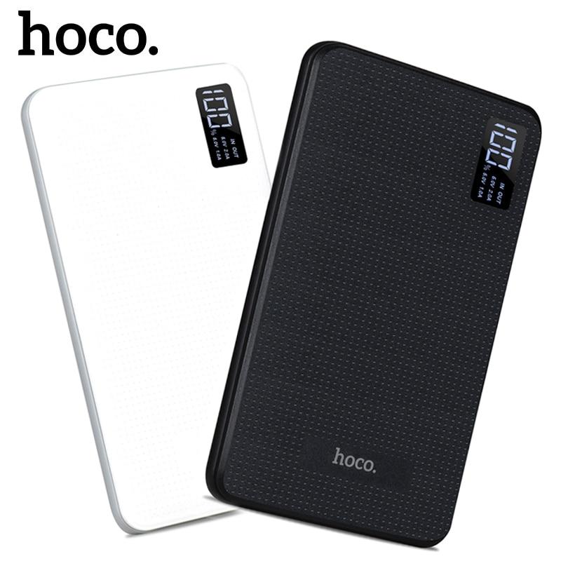 imágenes para Banco de la Energía 30000 mAh 3USB HOCO Apoyo Externo Portátil Mobile Cargador de Batería Li-Polímero Pantalla LCD poverbank para todos teléfonos