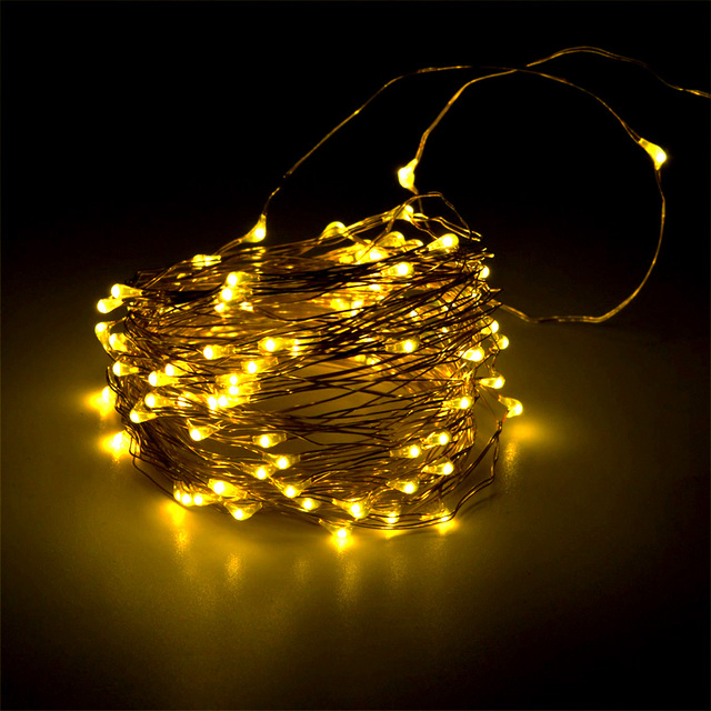 DC5V 10m 100leds Mini Christmas Lights LED String Lights USB Rechargeable  Fairy Garland Warm White LED - DC5V 10m 100leds Mini Christmas Lights LED String Lights USB