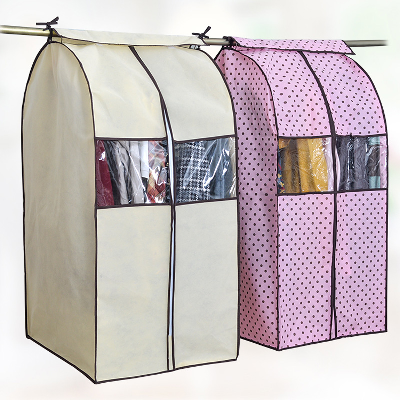 Large Capacity Cloth Hanging Suit Coat Dust Cover Protector Wardrobe Storage Bag