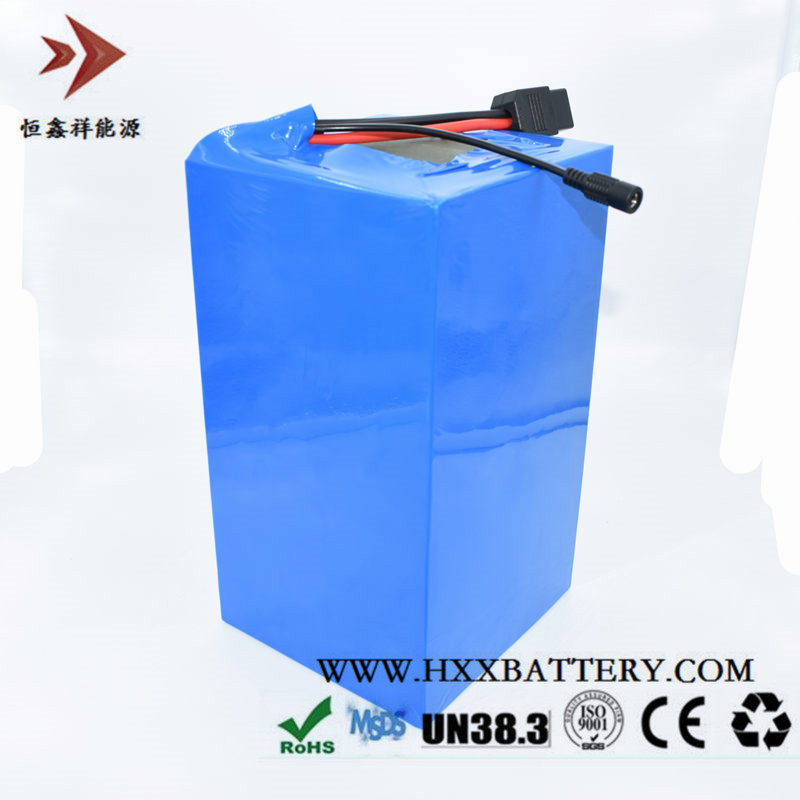 HXX 48V 40Ah Li-ion Battery Pack BMS Protection Deep Cycle Free Charger 54.6V 2A AGV Car Electric Wheelchair Solar Power Energy 48 volt li ion battery pack electric bike battery with 54 6v 2a charger and 25a bms for 48v 15ah lithium battery