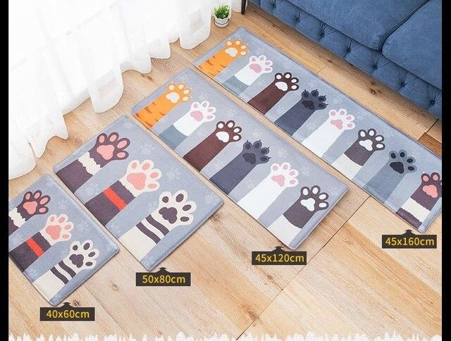 Tapijt Voor Keuken : Welkom vloermatten kat klauw gedrukt badkamer keuken tapijt huis