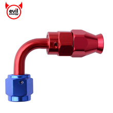 evil energy AN4 Elbow Swivel PTFE Hose End Reusable Fuel Fitting Adapter 90degree Seal