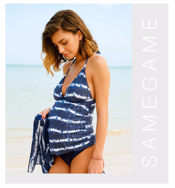 6d82757e14fa5 MAGGIE'S WALKER Maternity Clothes Swimsuits Pregnant Tankini Sets Summer  Hoilday Beach Swimwear Maternity Swimming Bathing Suits