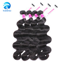 TIANTAI Peruvian Human Hair 4 Bundles Body Wave Weave Natural Color Hair Extensions 8-28 Inch Remy Hair(China)