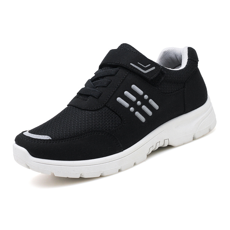 Antiskid Lace Low Shoes Walking Sneakers Safety Shoes For Women Fitness Breathable Walking Shoes Men The Elderly Flat Sports