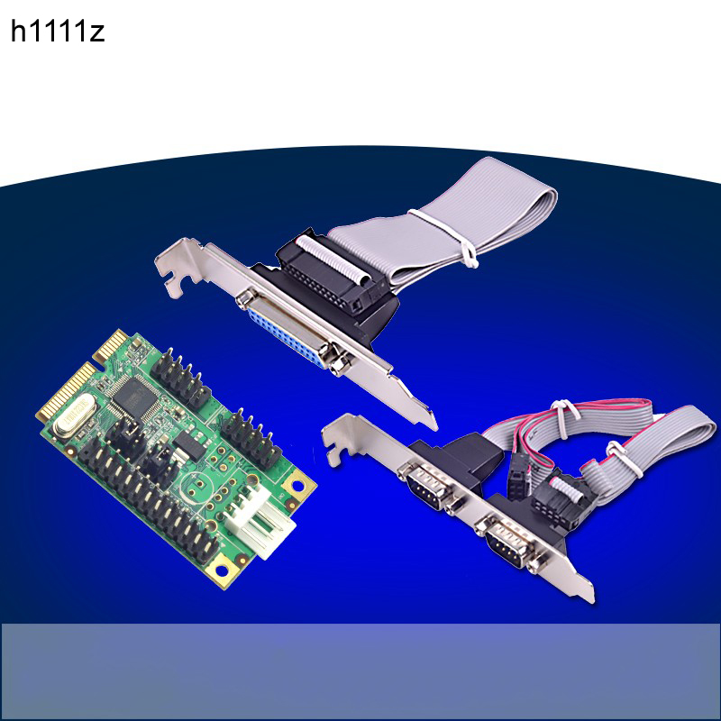 New Mini PCIe 1 Parallel Port+2 Serial Ports I/O Controller Card Mini PCI-e to RS232 DB9 & DB25 COM Card Adapter WCH382L Chipset new pci e pci express to 4 port rs232 multi serail card wch384l chipset db9 pin com adapter pcie controller with fan out cable