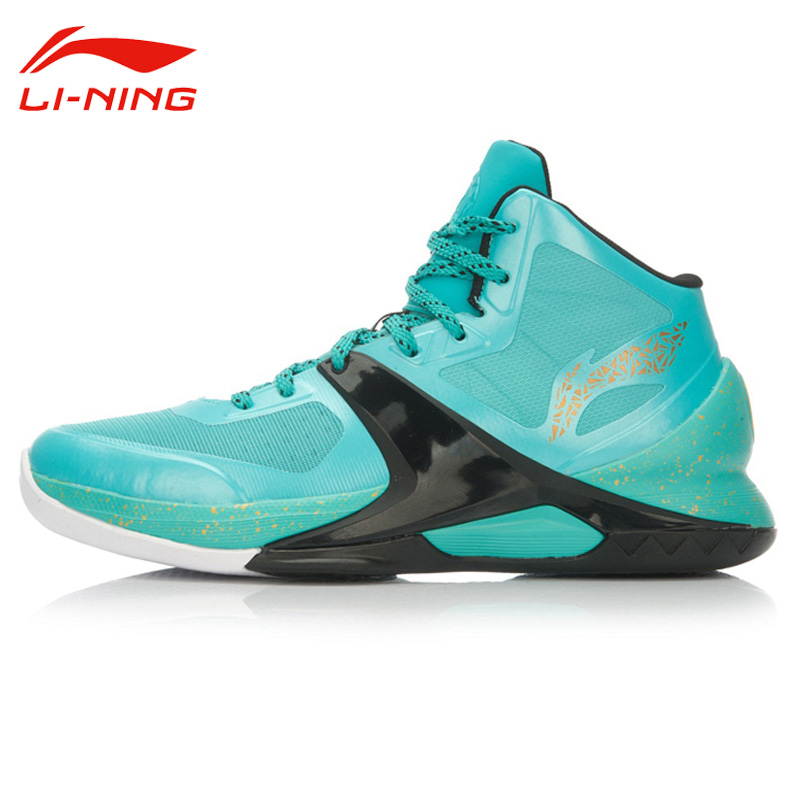 Li-Ning Men's Cushioning Wear-Resisting Basketball Shoes Li Ning Outdoor Lace-Up Breathable Anti-Slip Sports Sneakers ABAL013