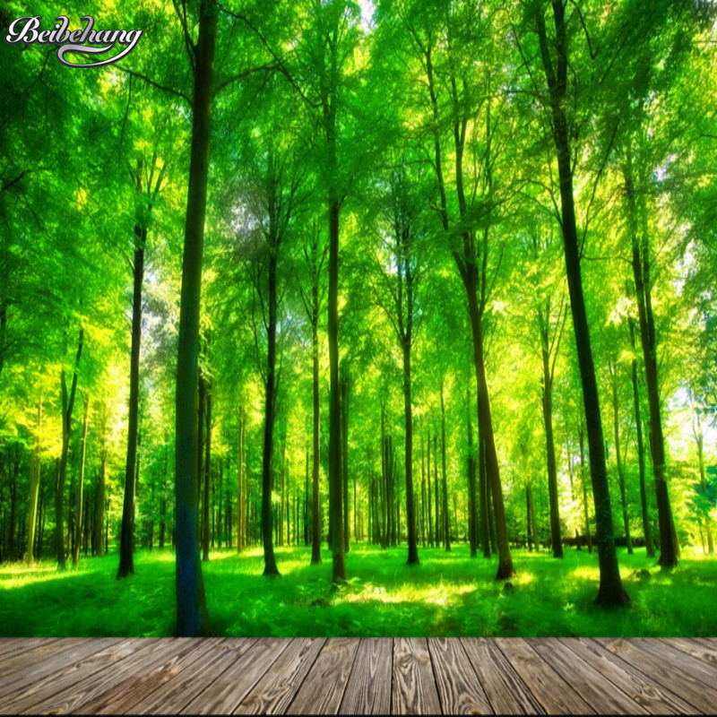 Beibehang 3D Photo Wallpaper Natural Forest Mural Bedroom