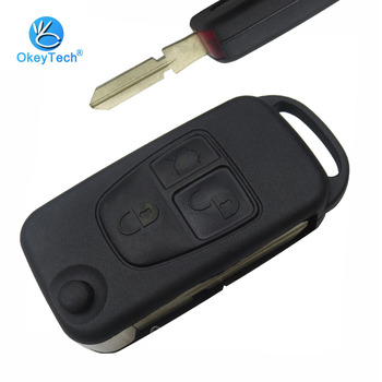 OkeyTech For Benz Key Shell 3 Button Flip Folding Remote Car Key Cover Case Fob For Mercedes Benz ML C S Class ML320 C230 ML430 image