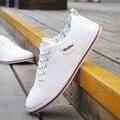 2016 Весна Осень Мужчины Повседневная Мягкие Кожаные Ботинки Для Мужчин модные Платья Обувь Черный Белый Мужчина Оксфорды Квартиры Zapatos Hombre 2.5A