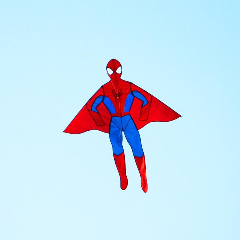 Высокое качество 2 м с изображением Человека-паука kites10pcs/Лот стиль кайт большой кайт кайт завода с ручкой линии с персонажами из мультфильмов