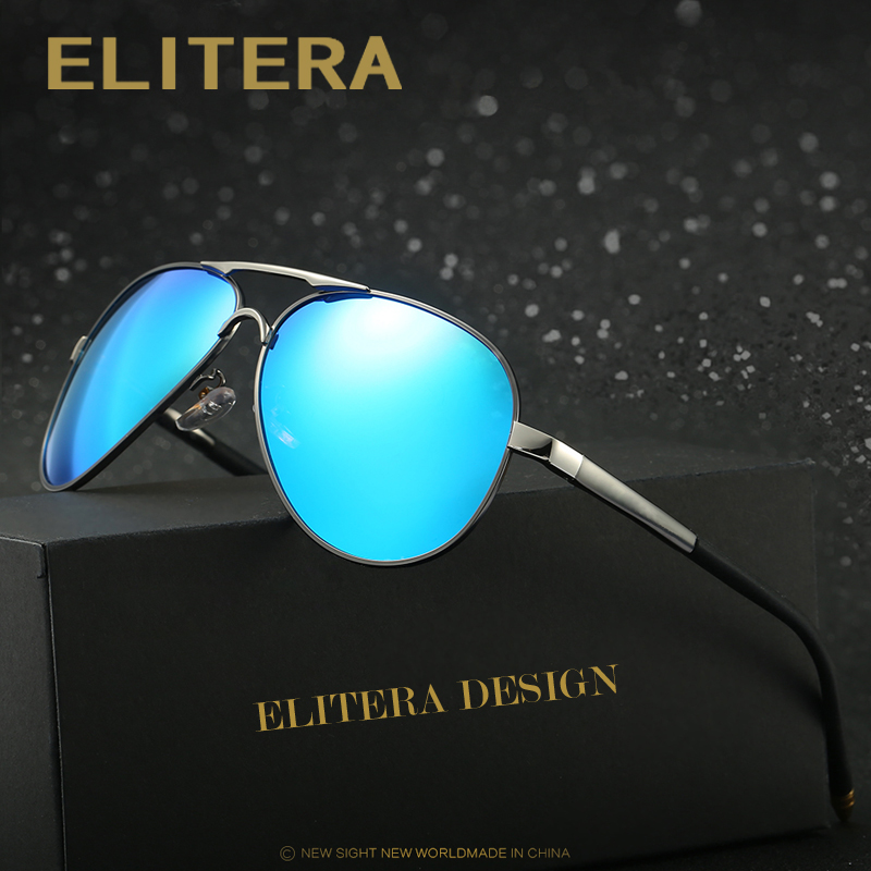 ELITERA Brand Design Men Classic font b Sunglasses b font HD Polarized Sun glasses Luxury Eyewear