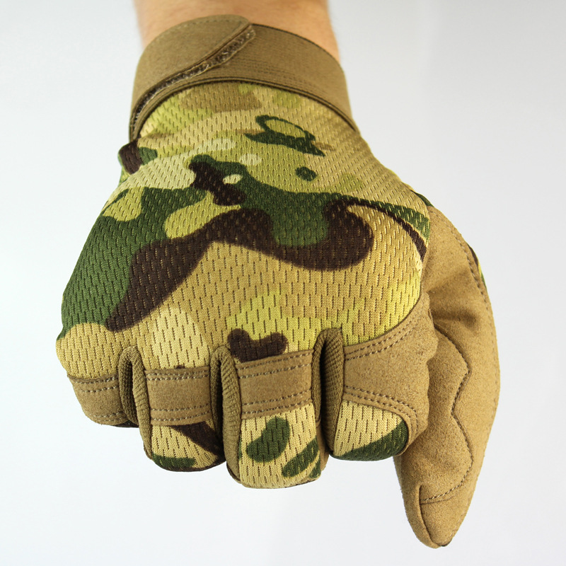 Mens Full Finger Mittens Army Camouflage Tactical Gloves Antiskid  Military Bicycle Airsoft Motocycel Shooting Paintball Gloves