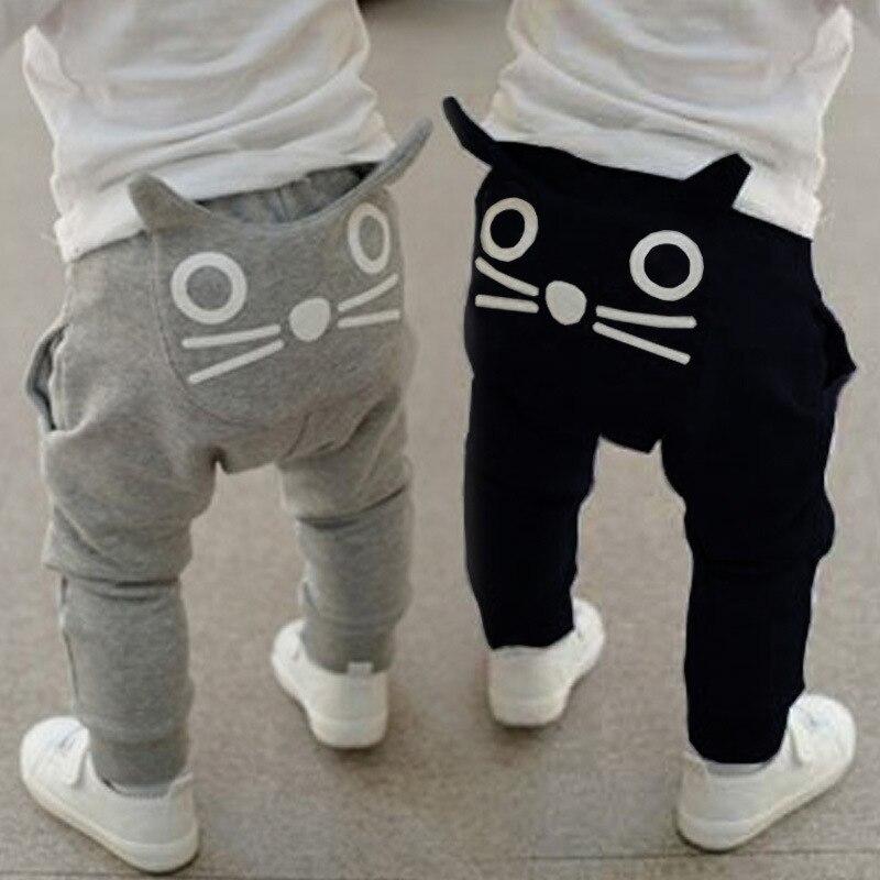2 3 4 5 6 Jahre Kleinkind Hosen Kinder Nette Katze Jungen Hosen Kind Hosen Casual Harem Hosen Baby Boy Mädchen Hosen Leggings Sommer
