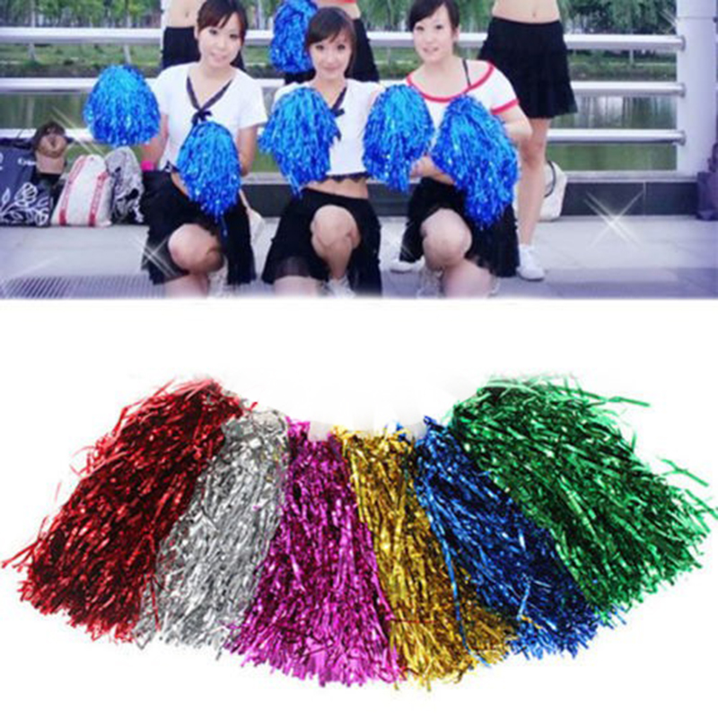 Modish Cheer Dance Sport Supplies Competition Cheerleading Pom Poms Flower Ball Lighting Up Party Cheering Fancy Pom Poms 1PC flower decorated kids headband with pom pom