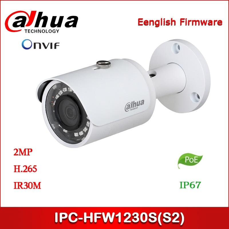 Dahua IP Camera 2MP IPC-HFW1230S Security Camera IR Mini-Bullet Network Camera Support POE
