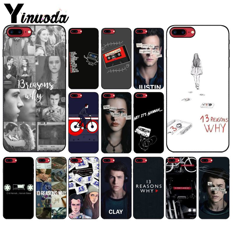 Yinuoda 13 reasons why Design Newly Arrived DIY Luxury High-end Protector Case for iPhone8 7 6 6S Plus 5 5S SE XR X XS MAX Coque image