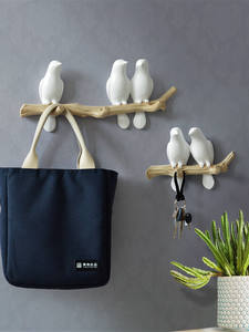 Handbag-Holder Towel-Hooks Coat Bird-Hanger Wall-Decorations Home-Accessories Kitchen
