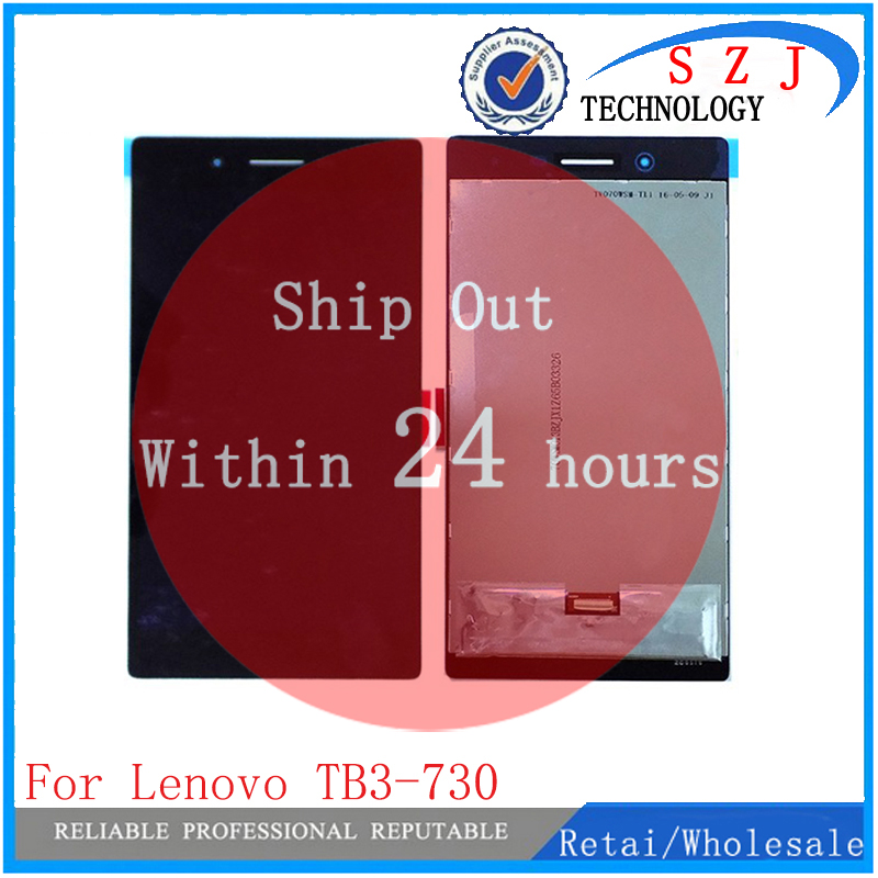 New For Lenovo Tab3 3 7 730 TB3-730 TB3-730X TB3-730F TB3-730M lcd display with Touch Screen glass digitizer full assembly pu leather stand case cover for lenovo tab 3 730f 730m 730x 7 inch tablet covers cases for tb3 730f screen protector stylus pen