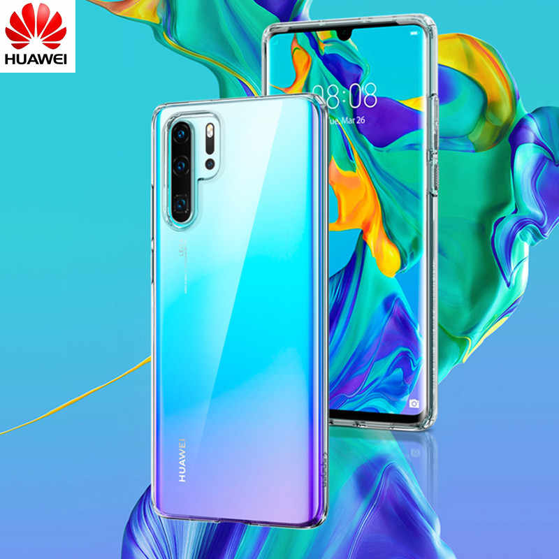 Original Huawei P30 Pro P20 Lite P10 P9 Plus P8 Lite 2017 P Smart Plus 2019 Cover Frosted Transparent Soft Silicone TPU Cover