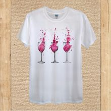 Red Wine Glasses Drinking Partying 100% Cotton unisex women Harajuku Tops t shirt Fashion Classic Unique free shipping