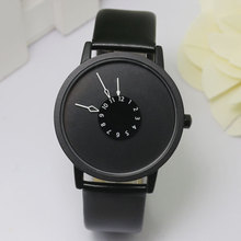 Leather-based Watch Girls gown watches hour clock males trend Informal watch Unisex Quartz watch relogio relojes W0706