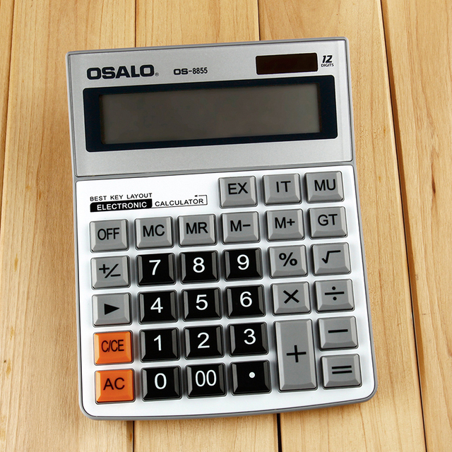 OS-8855 Monry Director Calculator AA battery Office Supplies Electronic Desktop 12 Digits Calculator Gifts
