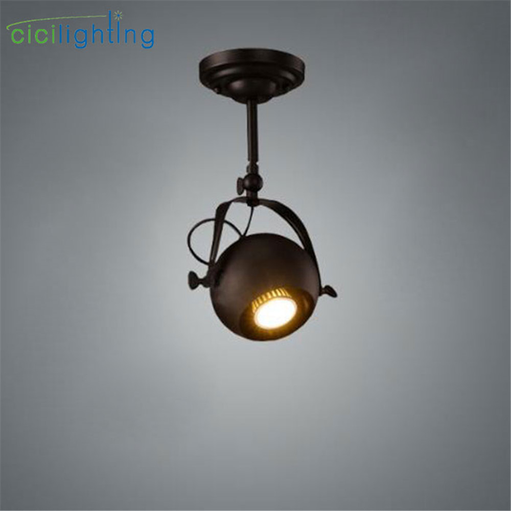 European-style retro long pole LED spotlights, clothing store track lights,surface mounted clothing TV bar backdrop lamp