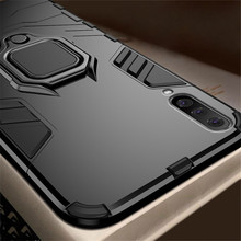 Luxury Shockproof Armor Case For Samsung Galaxy A50 A70 Stand Holder Ring Phone Case Silicone Soft TPU&PC Anti-Fall Back Cover for samsung galaxy a7 2018 fitted shockproof back cover anti skid anti fingerprint silicone soft black tpu phone case