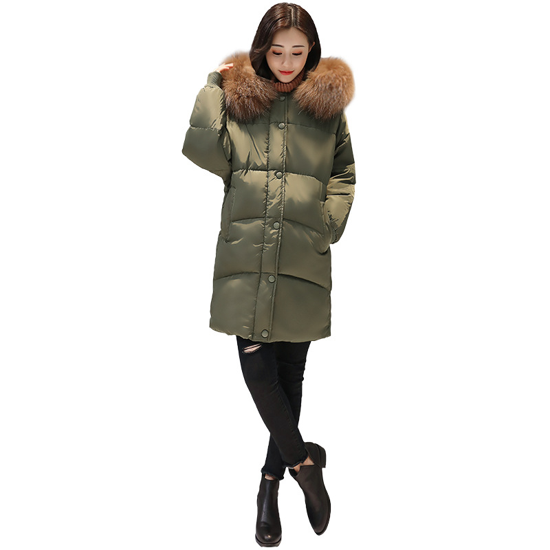 2017 new long-term cotton women Korean version of the big hair collar hooded down jacket fashion jacket jacket tide success and failure of activity based techniques a long term perspective
