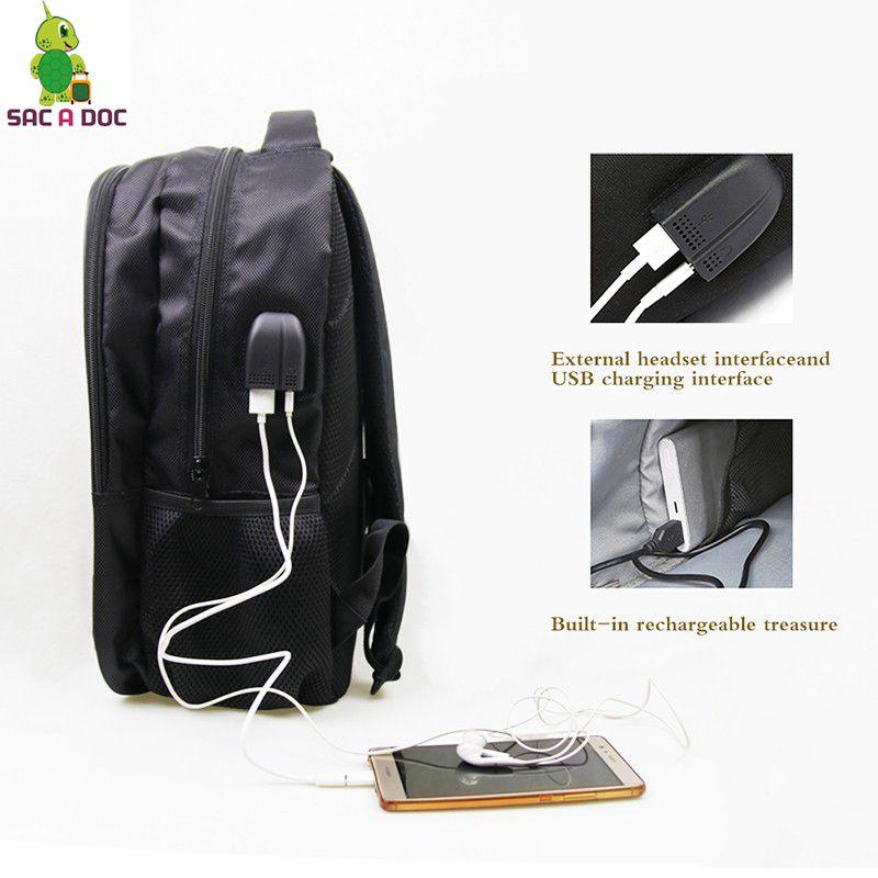 fdcbbae8ed Pokemon TEAM ROCKET Split Laptop Backpack Multifunction USB Charge  Headphone Jack School Bags for Teenagers Large Travel Bags-in Backpacks  from Luggage ...