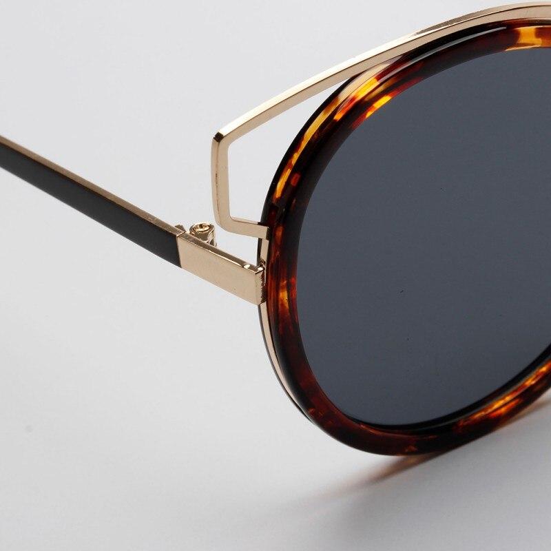 Cat Eye Sunglasses Mirror Flat Lense Women Classic Brand Designer Twin-Beams Rose Gold Frame Sun Glasses