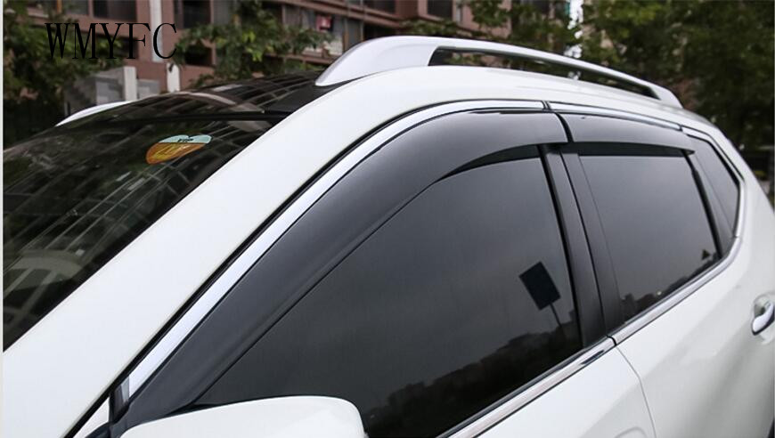 For 2014 -2017 Nissan X-trail X Trail Rogue T32 Window Visor Vent Shades Sun Rain Deflector Guard Awnings Auto Accessories