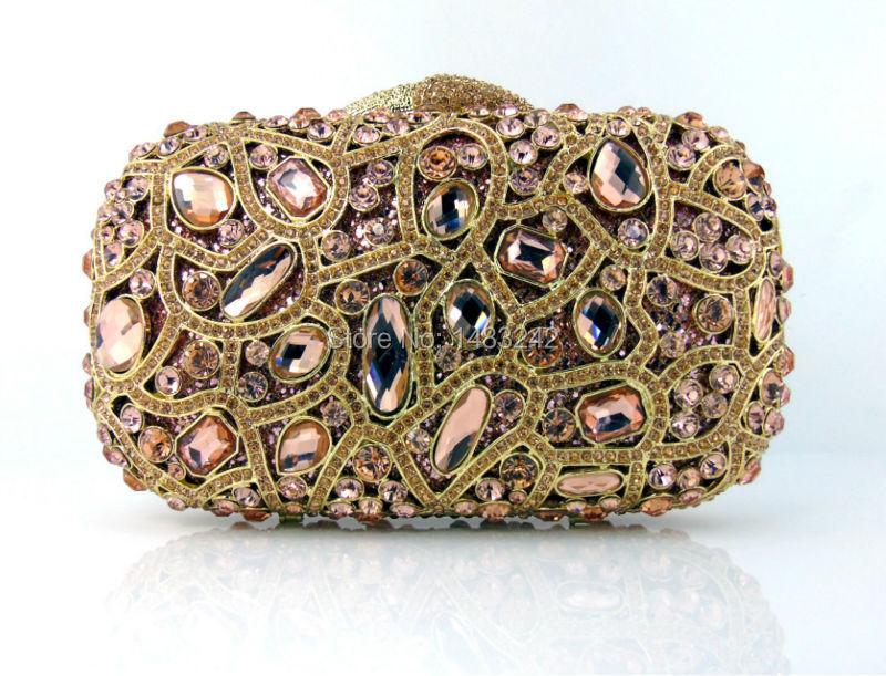 ФОТО GG3 2016 new design hot sale elegant and luxury Rhinestones African Handbag for wedding/party