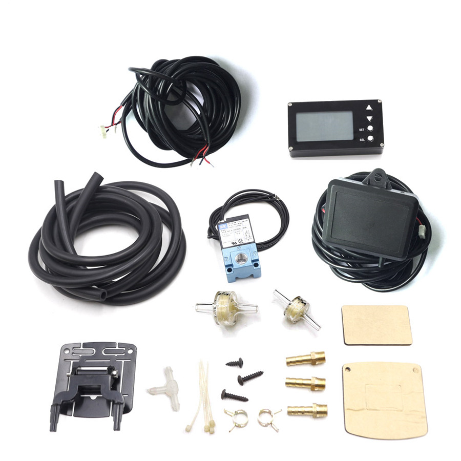 LCD Display EVC Electronic Boost Controller W Turbo Sensor And Electronic Valve Auto Gauge Car Meter Boos