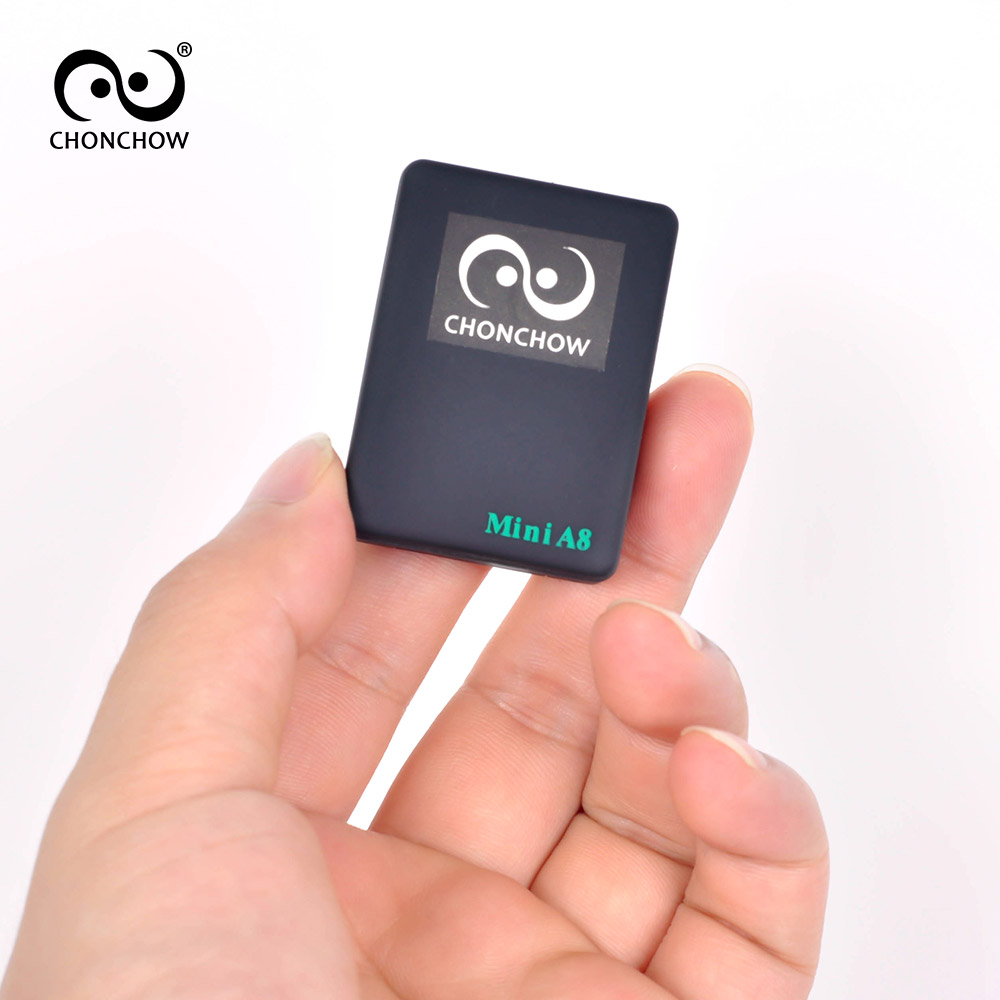 ChonChow Mini GSM Tracker A8 Global Real Time GSM/GPRS Tracking Device With SOS Button for Cars Kids Elder Pets Free Shipping image