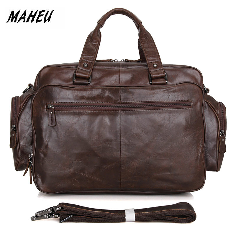 MAHEU Best Quality Leather Briefcase Genuine Leather Crossbody Messenger Bag Business Laptop Bags Offical Daily Use Hot Fashion