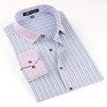 Высокое качество Длинным Рукавом Рубашки Контрастность Воротник Бизнес Случайный Формальный Мужской Рубашки Camisa masculina Hombre рубашке homme
