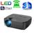 Android HD 1080 P 3D Vídeo Digital VGA USB TV LED mini Projetor Home Theater Beamer Proyector Projektor Beamer Cinema 1600 lumens