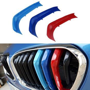 Muchkey 3D M Xe Styling Phía Trước Lưới Tản Nhiệt Insert Trim motorsport Dải nướng Dán Bìa Cho BMW 116i 118i 120i 9 lưới