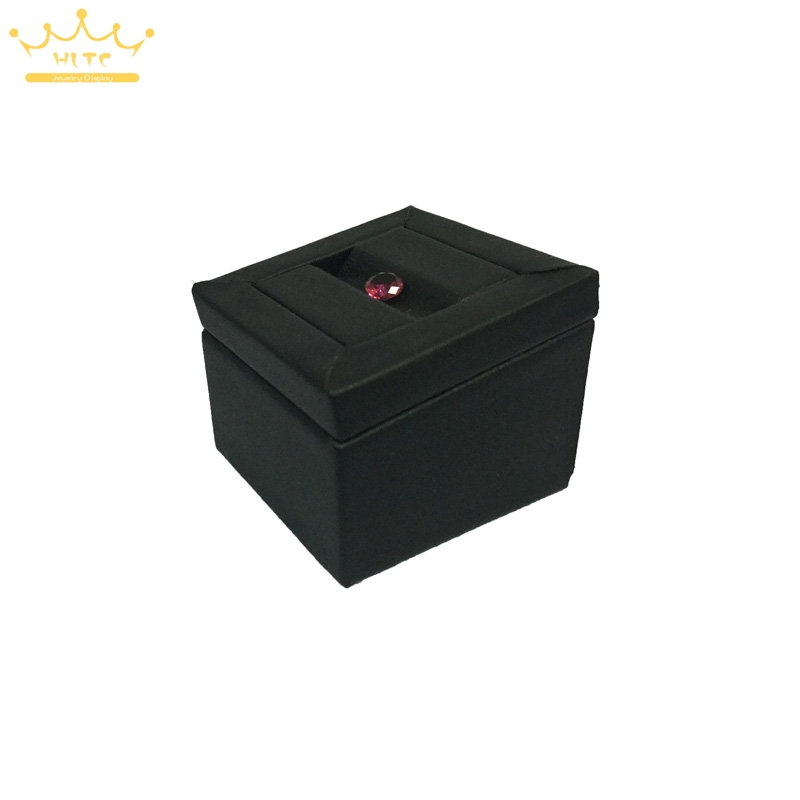 Newest Black PU Square Diamond Holder Stand Jewelry Beads/Stud Earring Jewellery Display Stand Case Showcase