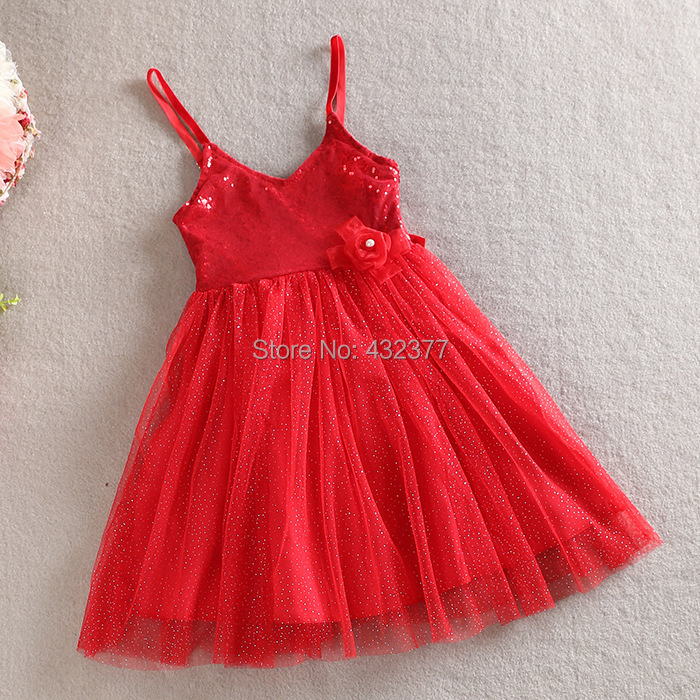 clearance toddler baby girls dress Xmas red dress summer dress,cheap chinese dress,3-8y Girl Sequins custom