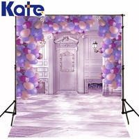 Color Palace Wedding Background Romantic Pink Series Kate Backdrops Colored Balloons Valentine Backdrops