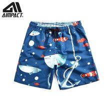 Quick Dry Board Shorts for Men 2019 New Summer Fish Beach Surf Swimming Shorts Fashion Swim Trunks Casual Leisure Hybird Shorts(China)