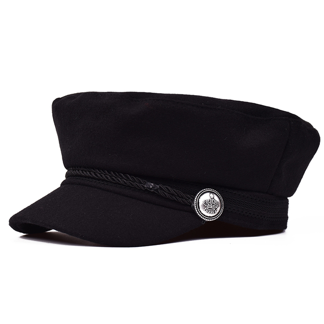 MNKNCL Black Hat Cap Women...