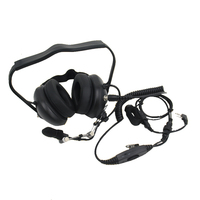 Heavy Duty headset headphone Noise Cancelling K plug for kenwood,baofeng,quansheng ,tyt etc. walkie talkie black color